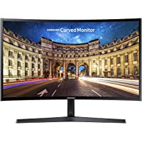 Samsung Monitor C24F396 Curvo, 24'' Full HD, 1920 x 1080, 60 Hz, 4 ms, Freesync, Nero