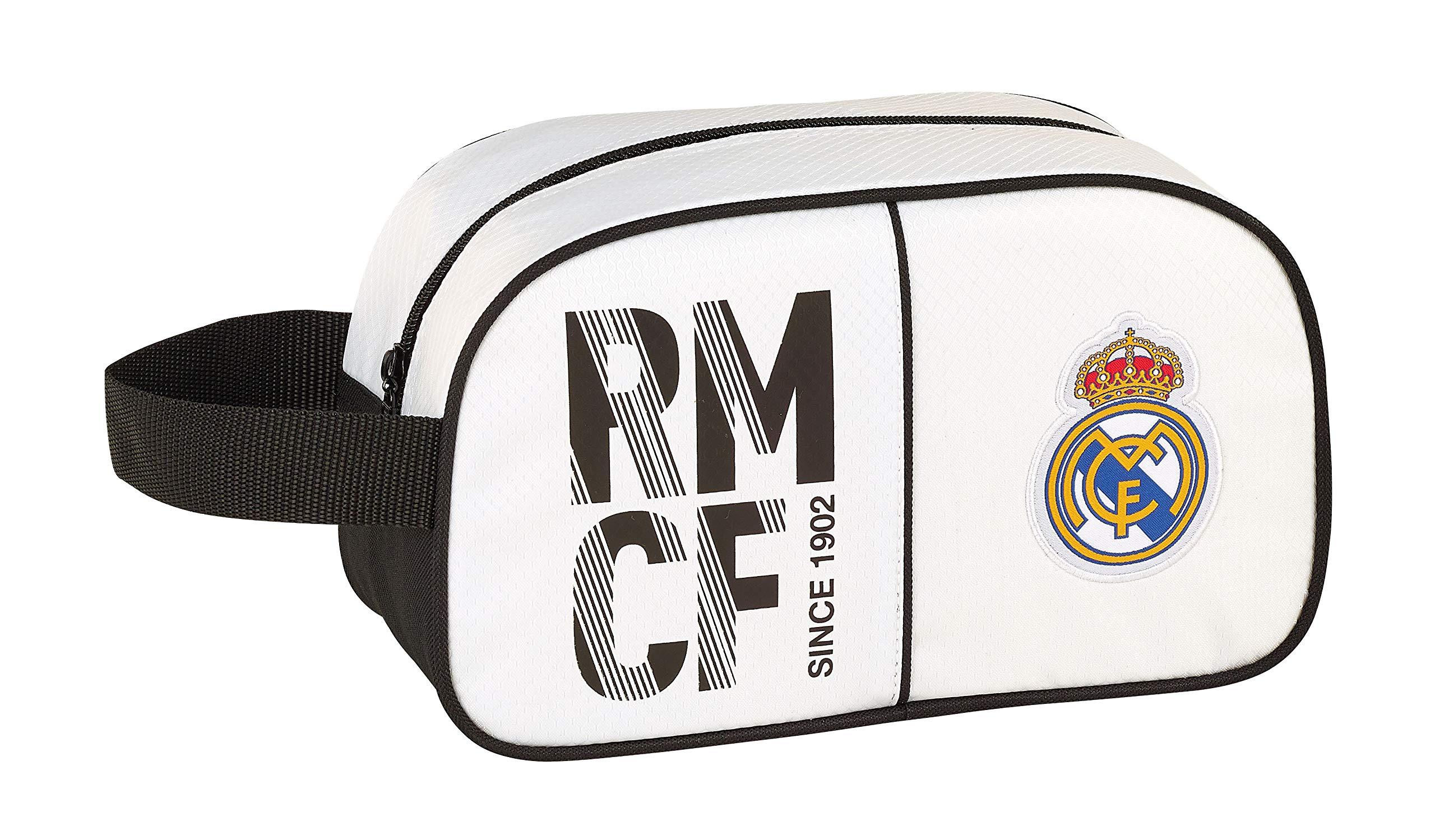 Real Madrid 811854248 2018 Bolsa de Aseo, 26 cm, Blanco