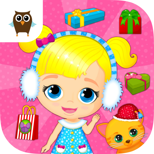 Lily & Kitty Baby Christmas - Doll House Winter Makeover & Santa Rescue (Gratis Lily Le)