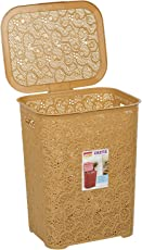 Laundry Basket/Basket with Lid/Basket for Clothes/Big Size Basket for Home/Size : (45x34x55) cm Brown