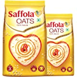 Saffola Oats, 1 kg with Free Saffola Oats 400 gm