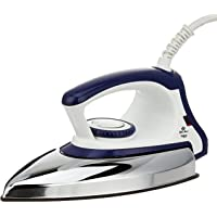 Bajaj Majesty DX-11 1000W Dry Iron with Advance Soleplate and Anti-bacterial German Coating Technology, White and Blue
