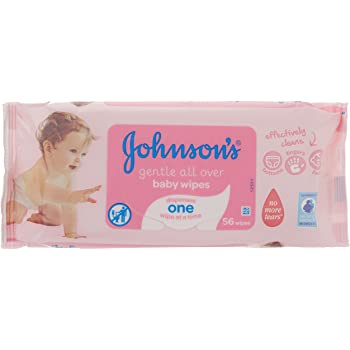 Johnson S Gentle All Over Baby Wipes 56 Wipes Amazon Co