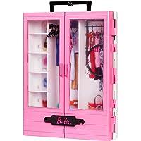 Barbie Fashionistas Le Dressing de Rêve rose à la taille de la poupée, transportable et fourni avec cintres, jouet pour…