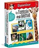 Clementoni- Sapientino-La Tombola degli Animali Giocco con Tessere Illustrate, Multicolore, 12690