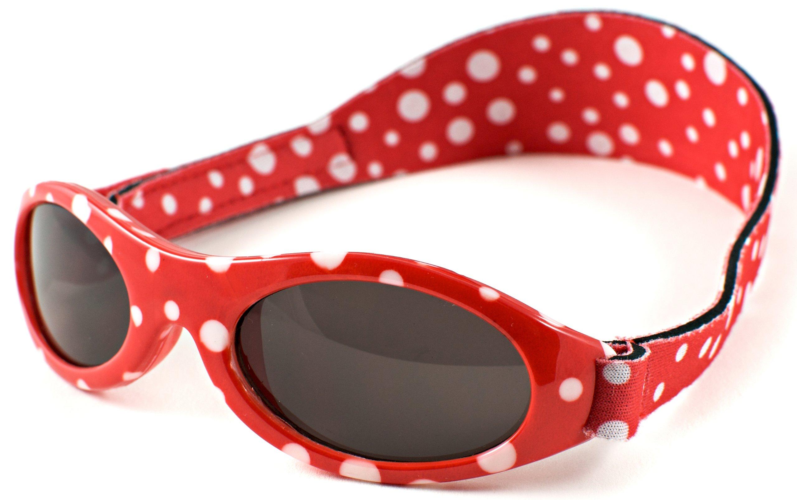 Baby Banz - Gafas de sol Ovaladas para niños, color Rojo, talla 0-2 anos 1