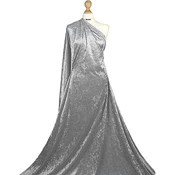 Plain Velour Velvet Fabric Spandex Stretch Luxurious 150cm