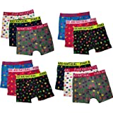Pack of 3 Mens Leaf Boxer Shorts Assorted Colours Cotton Fabric Pants Briefs Underwear Boxers