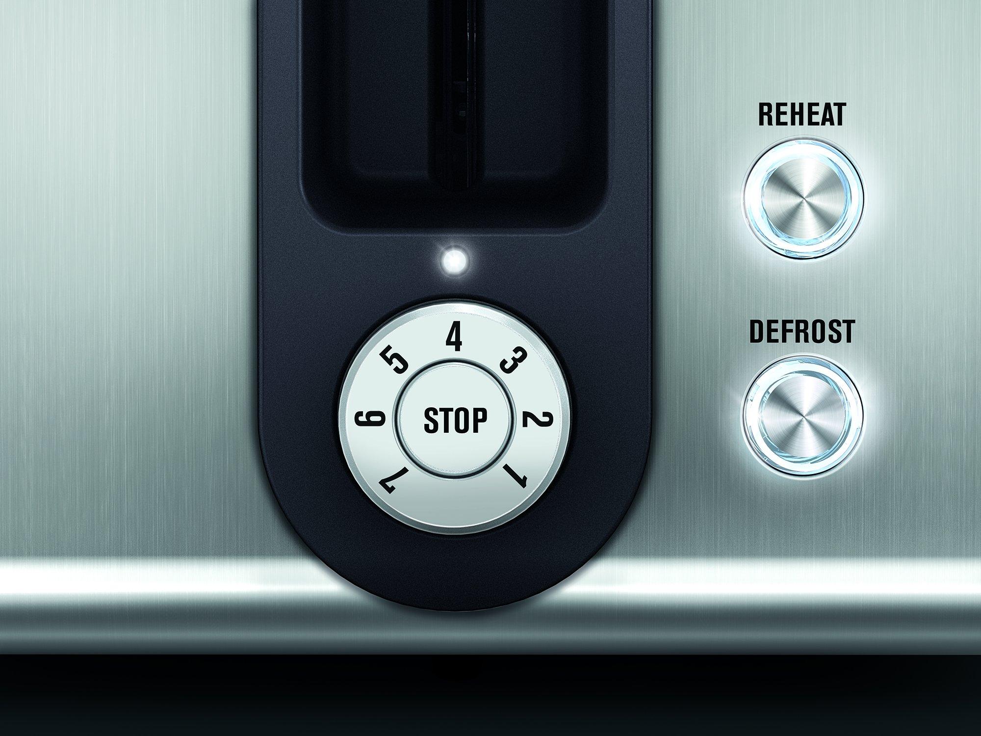AEG-AT-7750-Premium-Line-7000Series-Toaster-7-Stufen-klappbar-entnehmbarer-Brtchenaufsatz-850-Watt-Stopp-Auftau-und-Aufwrmfunktion-Silber