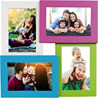 Story@Home Premium Wall Hanging Wooden Photo Frame Collage (30 cm x 30 cm x 3 cm), Multicolour