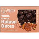 Flyberry Gourmet Halawi Dates (Khajoor) Dry Fruits, 400 G.