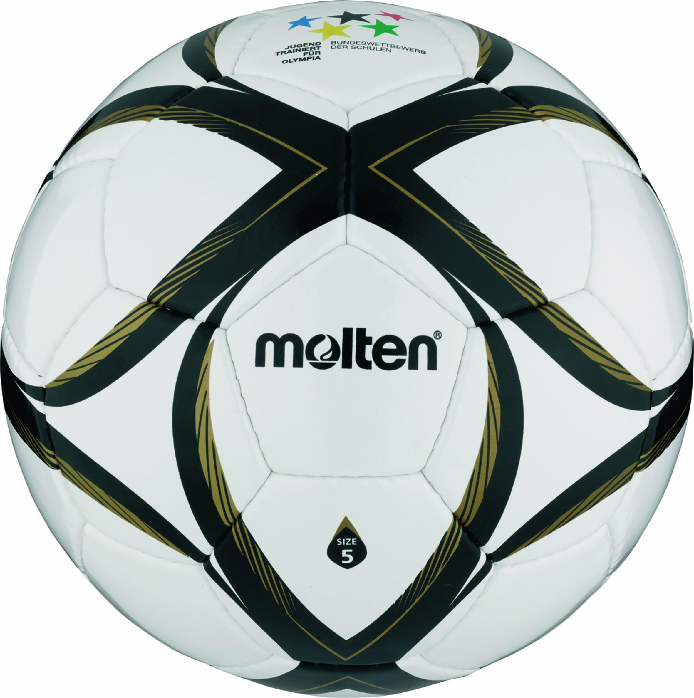 Molten - FXSM, Pallone da calcio, colore: Bianco/Nero/Oro