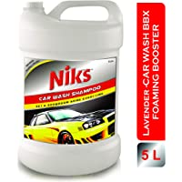 Niks Car Wash Foaming Shampoo - 5 Ltrs. Premium quality With extra Thickness Formula (lavender Flavour)
