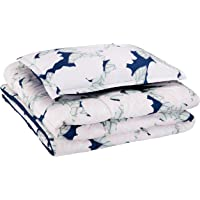 AmazonBasics Kid's Comforter Set - Soft, Easy-Wash Microfiber - Twin, Pink Flowers