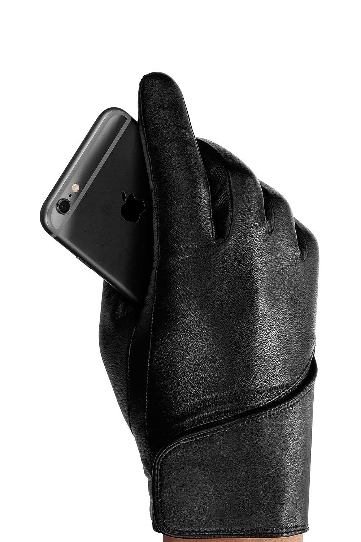 Mens leather touchscreen gloves uk - Mujjo Leather Touchscreen Gloves Large Black Amazon Co Uk Electronics