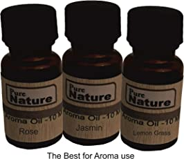 Pure Source India Aroma Oil Pack Of 3 IN One ,Total 30 ML Lemon Grass ,Jasmine and Rose ,10 ML Each Combo Pack .
