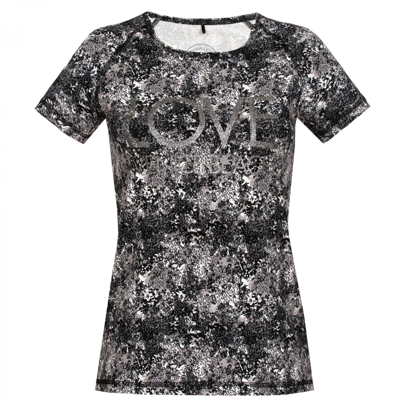 Venice Beach Donna T Shirt Alexa, Donna, T Shirt Alexa, Schwarz Weiß Allover, XL