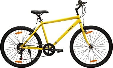 Mach City iBike 7 Speed 26T 7 Gear Steel Hybrid Cycle (Canary Yellow) 19inch Frame