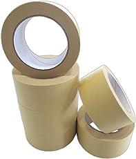 Feinkrepp Band 50mmx50m 6 Rollen Profi-Qualität universell Malerkrepp Kreppband Feinkreppband