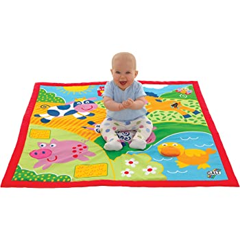 1fa4d2af2 Fisher-Price BFL58 Große Playing and Crawling Blanket with Animal ...