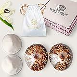 MOM'S SHELLS (T.Medium) - Coquillages d'allaitement Nacre + Coussinets + Lingette OFFERTS - Protège-Mamelons Naturels - Soula