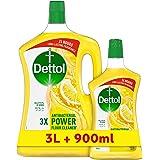ديتول منظف الاسطح متعدد الاستخدامبرائحة الليمون ، 3 لتر + 900 مل مجاناً
