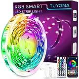 Ruban Led, 7M Bande LED 210 leds 5050 RGB SMD Multicolore LEDs Kit, Télécommande Bluetooth APP, Synchroniser avec Rythme de M