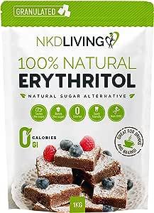 100% érythritol naturel, 1 kg | Granulé substitut au sucre avec ZÉRO calorie