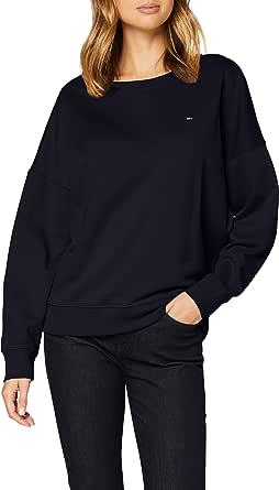 Tommy Hilfiger Oversized Open-nk Sweatshirt LS Maglione Donna