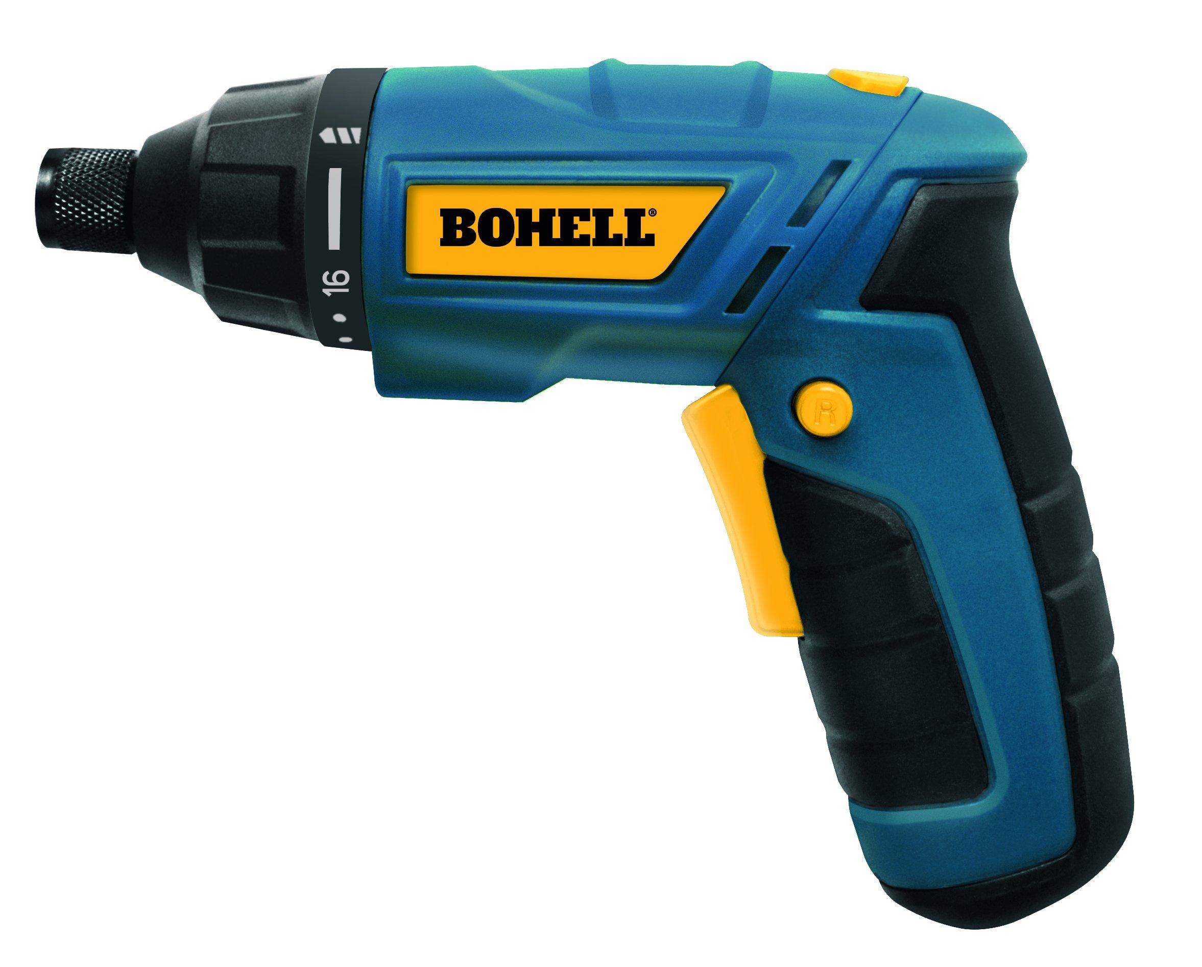 Bohell AT36LI – Atornillador sin cable de doble posición, con baterías de litio de 3.6 V, velocidad 180 rpm, 16+1 posiciones de par, par máximo 3Nm