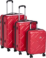 Kamiliant by American Tourister Ohana Hardside Spinner Luggage Set of 3, with Number Lock - Purple