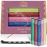 LA BELLEFÉE Bastoncini di Incenso 120 Incense Sticks, 6 Fragranze - Sandalo, Patchouli, Violetta Africana, Fragola, Gelsomino