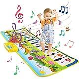 LEADSTAR Alfombra Musical, Juguetes para Niños de 2 3 4 5 Años, Alfombra de Baile, 8 Instrumentos Suenan Alfombra Piano, Educ