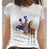 Womens Giraffe T-Shirt by Menagerie Of Mayhem | Ladies Rainbow Giraffe, XS S M L XL XXL