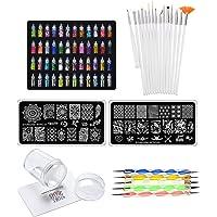 Store2508® Super Value Combo Kit of Nail Art Tools – 3d Nail Art, Nail Stamping Image Plates, Silicone Stamper, Nail Art…