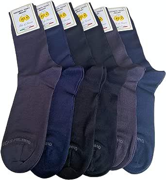 Lucchetti Socks Milano 6 paia calze uomo CORTE cotone filo di scozia elasticizzato estive in fantasia