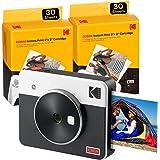 Kodak Mini Shot 3 Retro, Macchina Fotografica Istantanea e Stampante + 68 Foto, Foto Istantanee Formato Quadrato 76x76 mm, Co