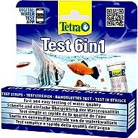 Tetra Test 6in1 - Wassertest für das Aquarium, schnelle und einfache Überprüfung der Wasserqualität, 1 Dose (25…