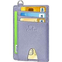 FurArt Portefeuille Minimaliste Fin, Porte-Cartes de Crédit avec Blocage Anti RFID, Les Femmes Hommes, Démontage Manille…