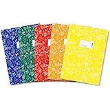 Herma 20211Lot de A4schooly DOO, plastique, Set avec 5pièces de chaque 1Protège-cahier en bleu, rouge, vert, jaune, orang