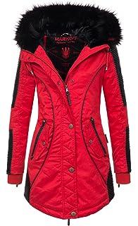 0bf02582ddc623 Marikoo Designer Damen Winter Parka warme Winterjacke Mantel Jacke B372