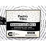 Poetry Tiles - 832 Fridge Word Magnets - Essential Words Starter Kit for Refrigerator Poems and Stories - Includes Alphabet H