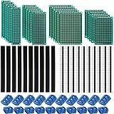 Kyrio 60 st PCB-kortskit 20 st dubbelsidiga PCB-prototypkort 20 st 2/3-stifts tryckt kretskort skruvterminal 20 st hane/hona