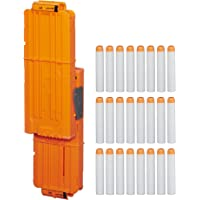 Nerf Modulus Flip Clip Upgrade Kit -- Includes 24-Dart Clip That Separates Into Two 12-Dart Clips -- Comes with 24 Official Elite Darts