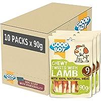 Good Boy friandises pour Chien à mâcher Rebondissements Wit Lamb, étui de 10 x 90 g Packs