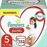 Pampers Maat 5 Premium Protection Luierbroekjes, 132 Stuks (12-17 kg), MAANDBOX, Pampers N°1 Luierbroekjes voor comfort en be