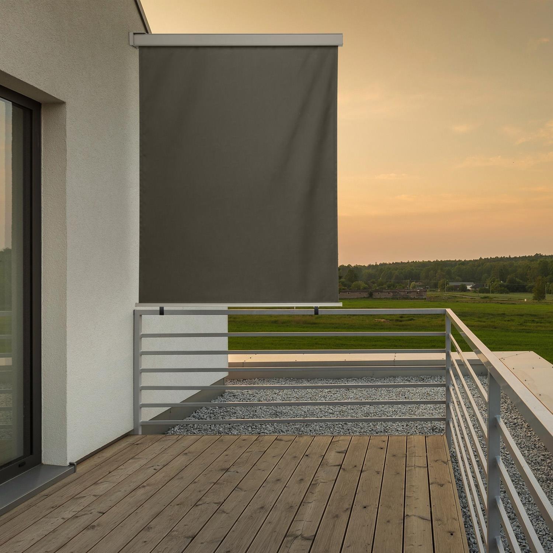 blumfeldt Cosmo - Balkonmarkise, Rollo, Markise, Seitenmarkise, 150 x 200 cm, wetterbeständig, wasserabweisend, UV…