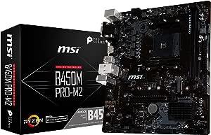 Msi B450 M Pro M2 Am4 Ddr4 Hdmi Dvi D Vga 1x Computers Accessories