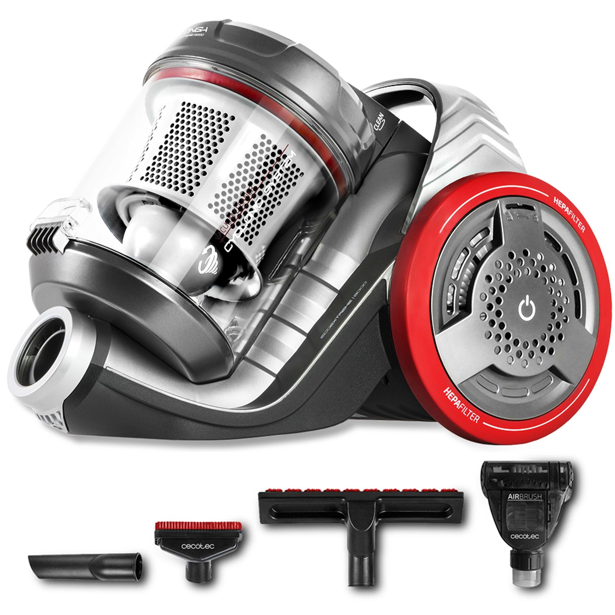 Cecotec Conga EcoExtreme 3000 – Aspirador Trineo Ultra Silencioso, Máxima Potencia, Mínimo Consumo, Capacidad de 3,5 l, Filtro HEPA, Ligero y Manejable