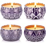 Hausware Citronella Candles Outdoor and Indoor Scented Candles Gift Set 4 Pack Soy Wax Candle